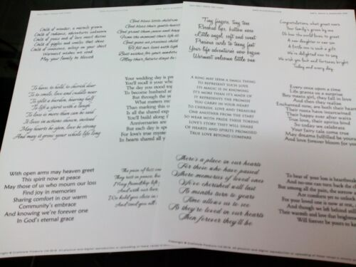2 X A4 TRANSPARENT EASY PEEL OFF VERSE STICKERS CARD MAKING BIRTH DEATH MARRIAGE