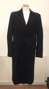 16 Size Double Breasted Long Cashmere Luella 44 Coat Black And Wool qZ4HCw