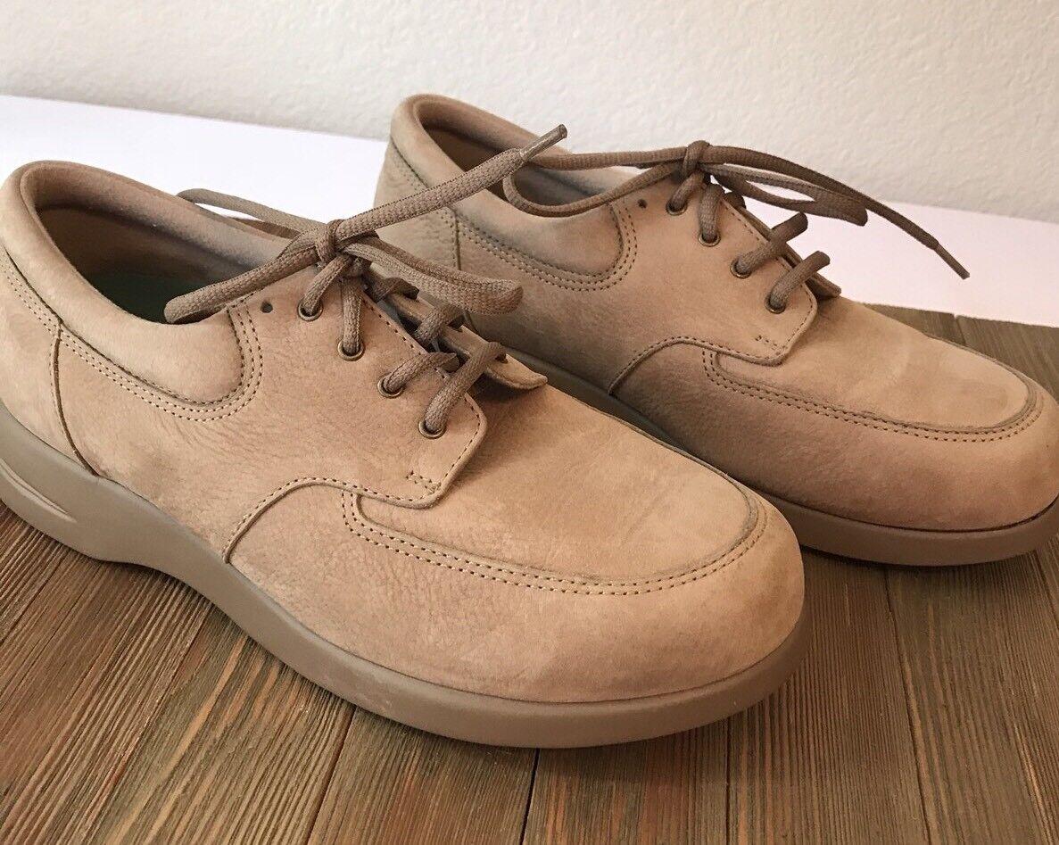 Drew Khaki Cream Lace Up shoes Size 7W P16Last  G5