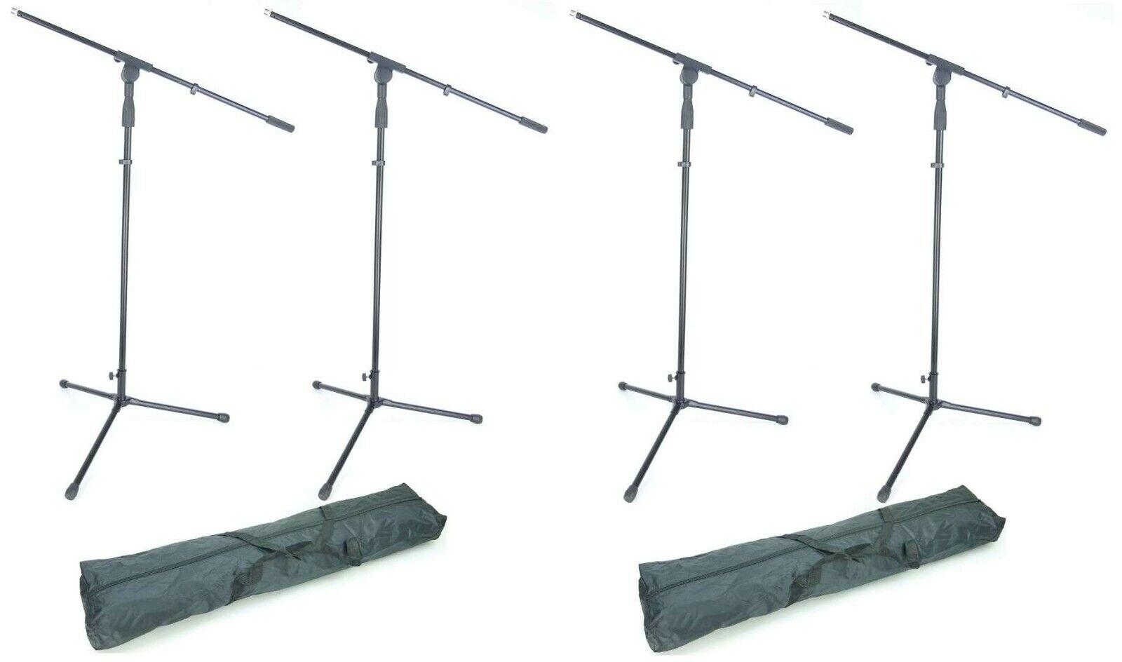 4 Professional Microphone Stand Tripod S22B + 2x Bag, Microphone Tripod Microphone Stand