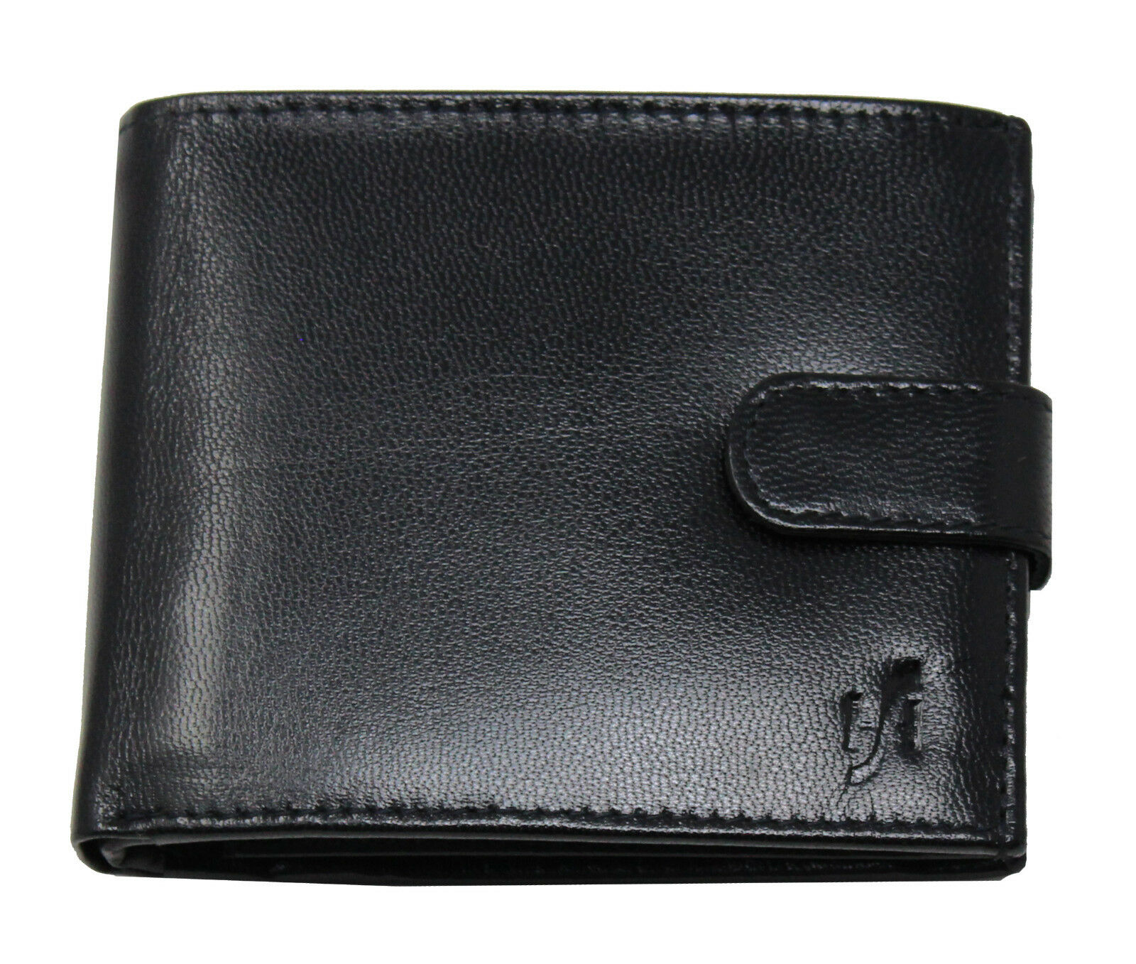 Mens RFID Blocking Black Red Leather Wallet