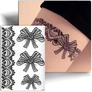 Tatouage Temporaire Noir Jarretiere Tattoo Femme Ephemere