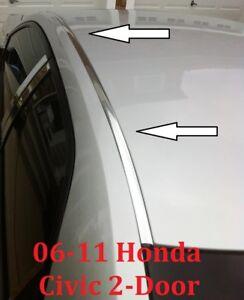 For 2006 2011 Honda Civic Chrome Roof Trim Molding Kit 2 Door Coupe Ebay