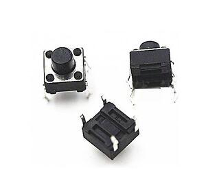 100Pcs Momentary Tactile Tact Push Button Switch 2 Pin DIP 6x6x4.3mm High 4.NWUS