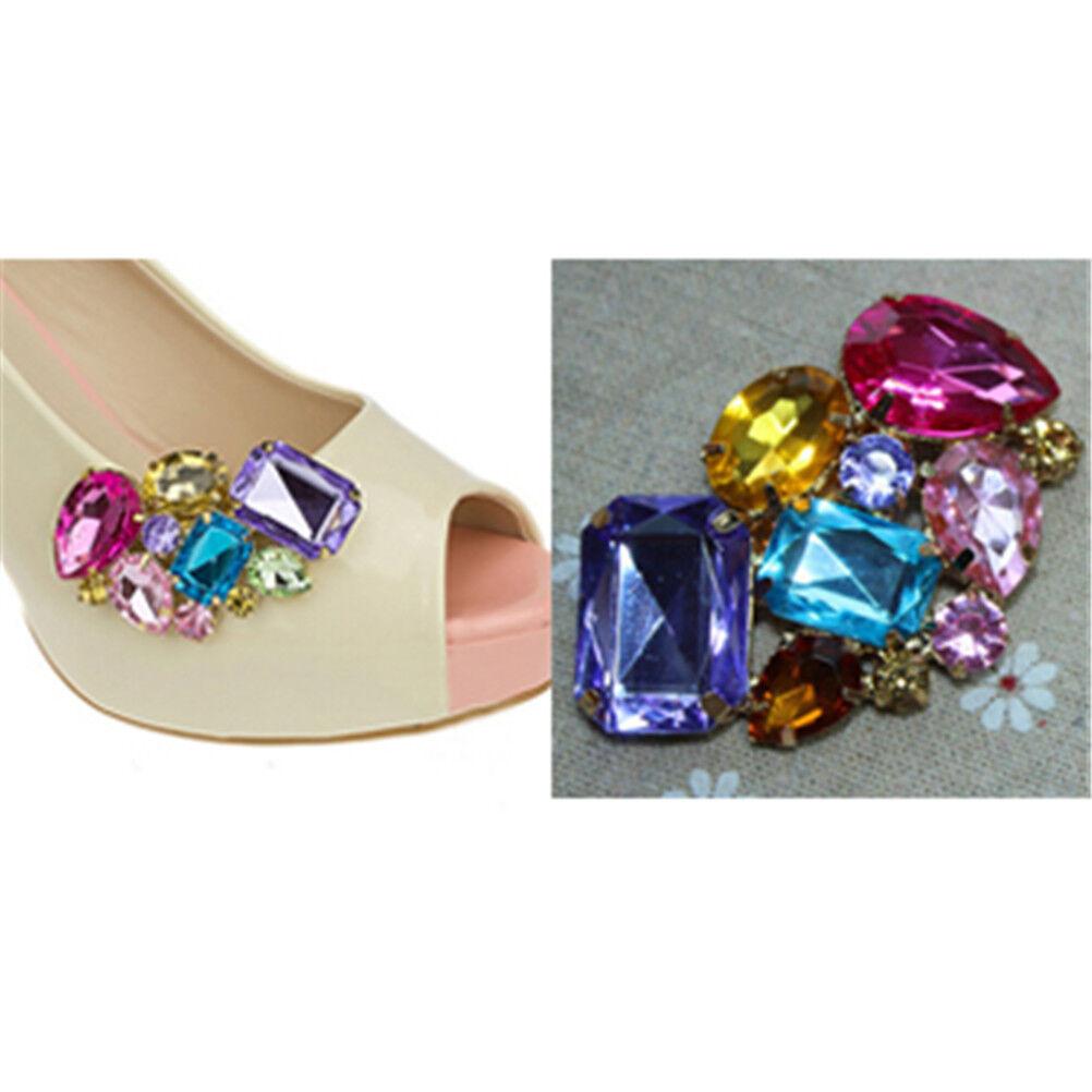 1PC Women Shoes Decoration Clips Crystal Shoes Buckle Bridal Charm DeCAK0