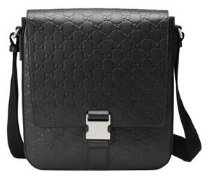 8f8ee095eb0 Image is loading NEW-GUCCI-GUCCISSIMA-GG-LEATHER-LOGO-MESSENGER-CROSS-