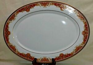 Amherst-by-MIKASA-Fine-China-16-034-Oval-Serving-Platter-Narumi-Japan