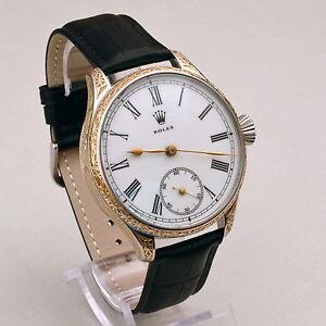 ROLEX-Hand-Engraved-Art-High-Grade-Pocket-Watch-Movement-cal-662-c1920-039-s