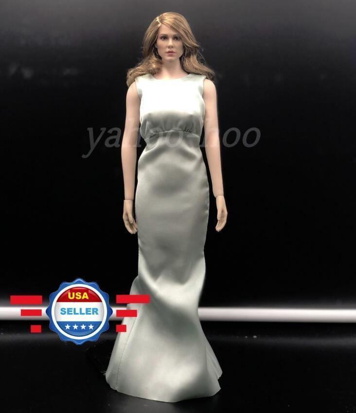 1 6 Léa Seydoux Head Sculpt Dress Set + PHICEN SEAMLESS BODY S07C