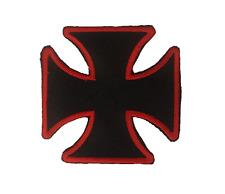New Original CROSS Black & Red  Iron On/Sew On Patch Emo Goth Punk Rock Biker