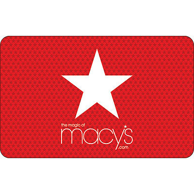 Macy's Gift Card - $25, $50 or $100 - Email delivery