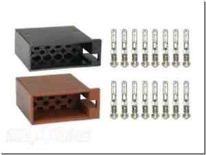 ISO-Radio-Buchsen-Set-16-Flachstecker-Kontakten-Einbau-Anschluss