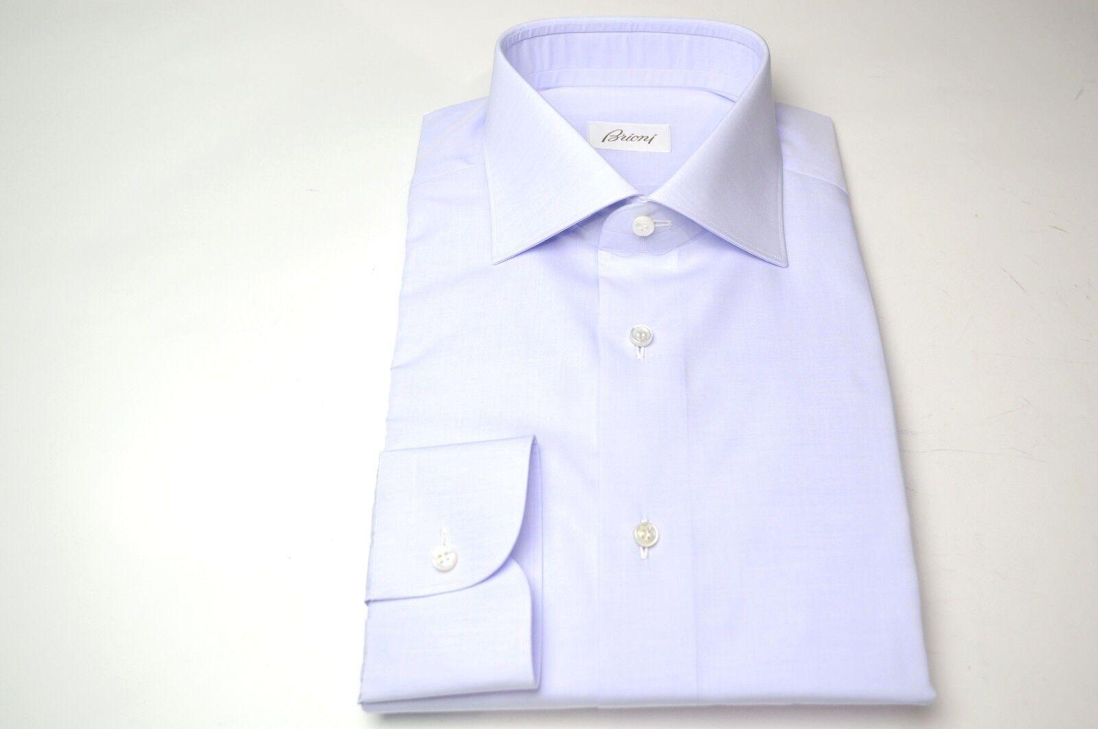 NEW  BRIONI Dress SHIRT 100% Cotton Größe 18.5 Us 47 Eu   (Store Code MA52)