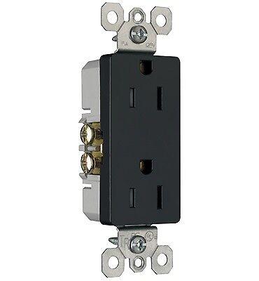 Decorator Tamper Resistant Receptacle 10 Pack Black 15 Amp P /& S 885TRBK
