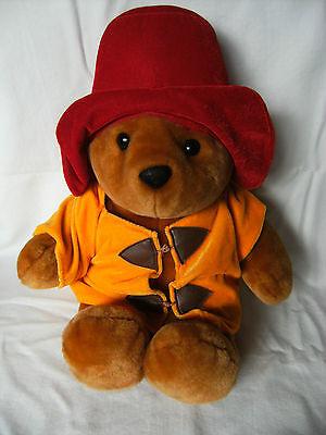 """Grande Paddington Bear 15"""" Raro Colore Insolito Vestiti Giocattolo Morbido-peluche In Buonissima Condizione-"""