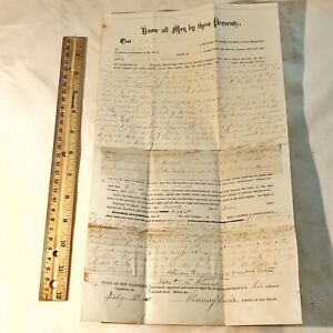 RARE-1880-s-Mortgage-Deed-Document-From-Old-US-Senator-Antique-Old-Papers