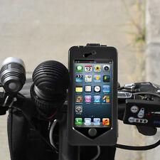 "Pro Waterproof Case Motorcycle Bike Handlebar Mount case For iPhone 7 4.7"" Black"
