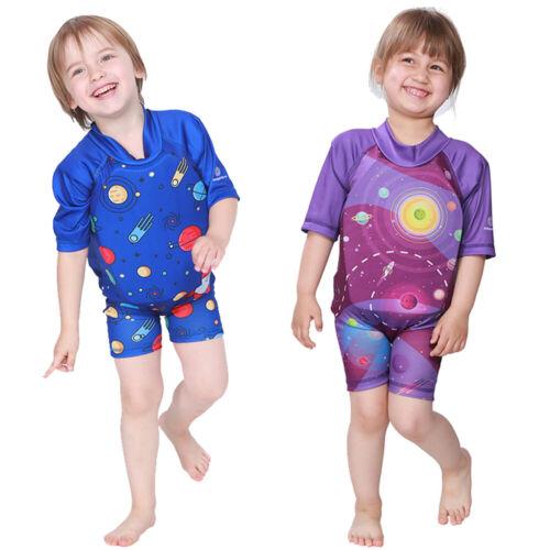 Kids Swim Suit Life Jacket Boys Floating Swim Trainer Girls Wet Suit Vest
