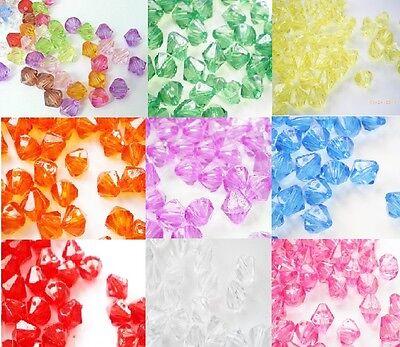 Acrilico Perle Bicono, 500x4mm, 400x6mm, 300x8mm Tu scegli la misura e Colore