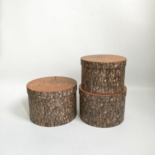 Wooden Design Premium Quality European Style Round Flower Box Gift Box