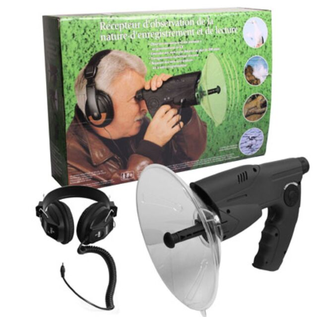 Parabolic Directional Microphone mcvoice Extreme Includes Rifle Scope