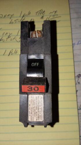 40A 50A 1-Pole Type NA Circuit Breakers FPE Stab-Lok 30A