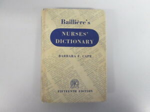 Acceptable-Bailliere-039-s-Nurses-Dictionary-Cape-Barbara-F-1963-01-01-Fifteen