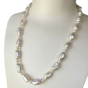 Nice-Huge-Natural-White-13-16mm-Huge-Freshwater-Baroque-pearl-necklace-AAA-47cm