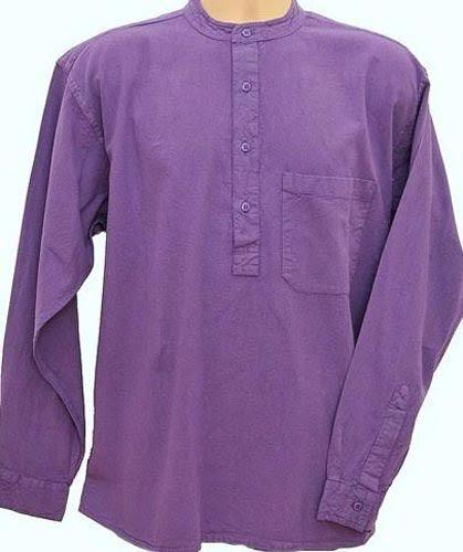 Grandad Shirt Original Half Half Half button Classic Kaboo Perfection in Collarless Shirts   Elegante Und Stabile Verpackung    Hochwertige Produkte  59c607