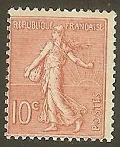 FRANCE-STAMP-TIMBRE-N-129-034-SEMEUSE-LIGNEE-10c-ROSE-034-NEUF-xx-TTB