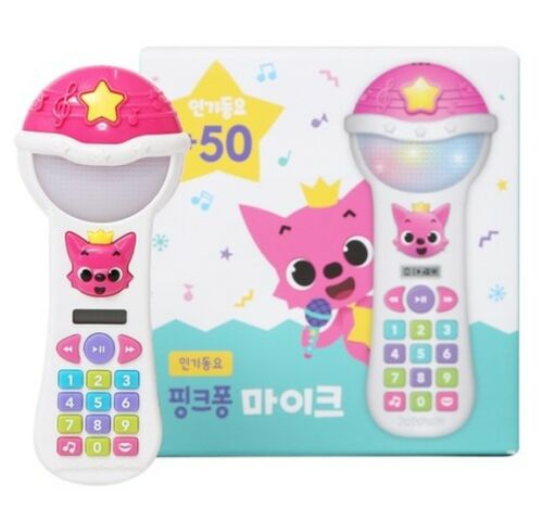 Pinkfong Mike Wireless Microphone Popular 50 KOREAN Songs Toy Book Set