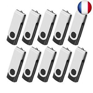 Clé USB 2Go Lot de 10 Clef USB 2.0 Mémoire Stick Lecteur USB Flash Drive S