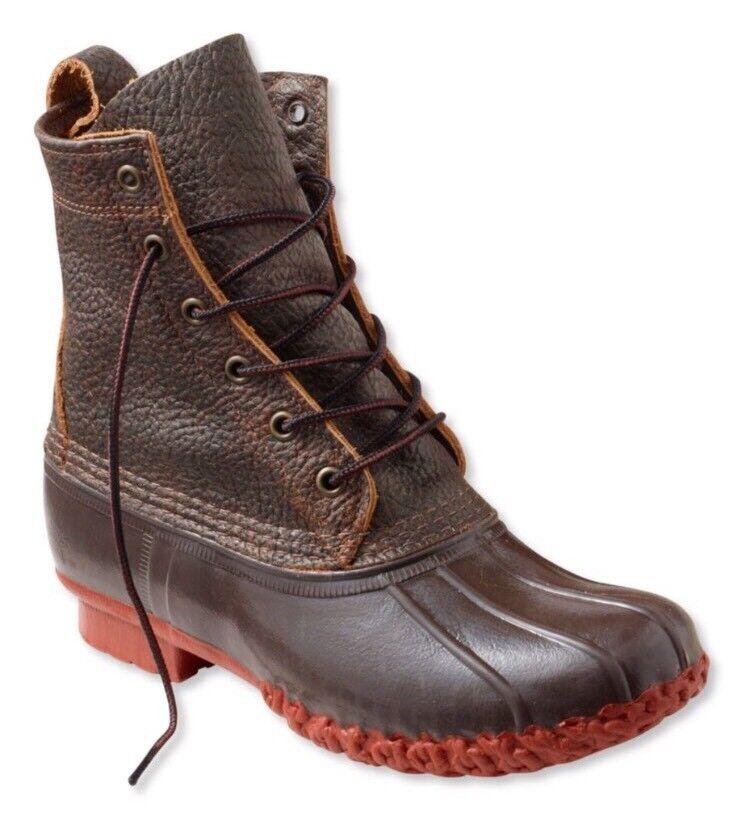 Nuevo con etiquetas para mujer botas L.l. Bean, 8  Bison, Marrón Oscuro Rojo Ladrillo,