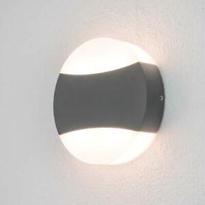 LED-Außenwandlampe Ring Rund Lampenwelt Dunkelgrau Modern Außenwandleuchte LED