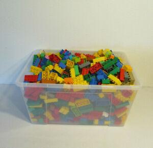 HK-LEGO-Duplo-60-bunte-Bausteine-Steine-20-2x4-40-2x2-Noppen-Starterpaket-Kg