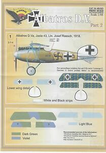 PRINT-SCALE-DECALS-ALBATROS-D-V-Pt2-1-48-for-EDUARD-REVELL-FREE-POSTAGE-W-KIT