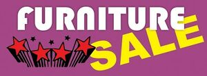 3ft x 8ft Furniture Sale (purple) Vinyl Banner -Alt to Banner Flag 3'x8' (0042)