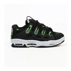 Osiris-scarpe-uomo-D3-2001-Black-white-green-rave-techno-party-dj-shoes