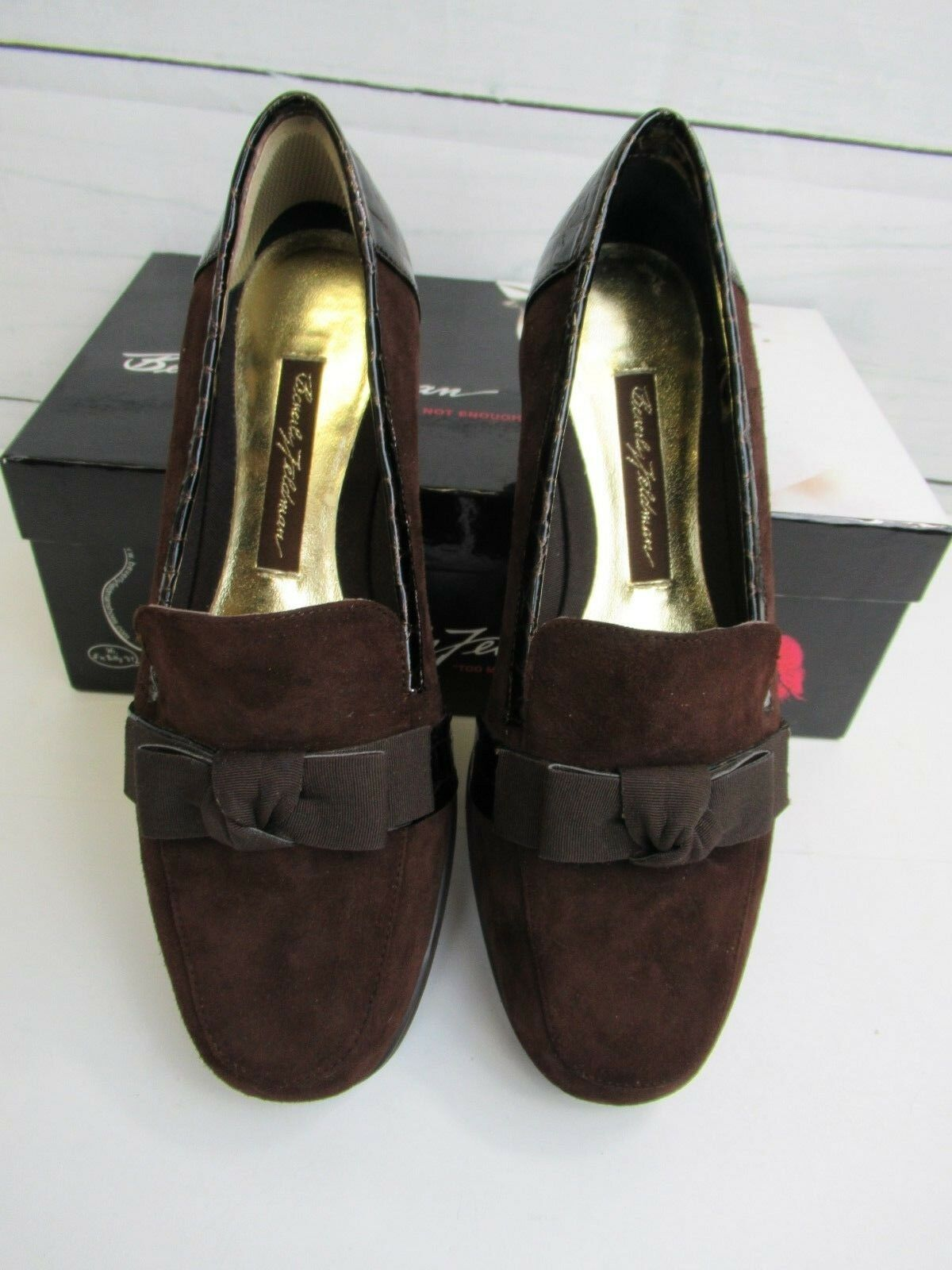 Adore by Beverly Feldman Feldman Feldman Womens 6.5M Brown Suede Loafer with Bow  142.00 - SS613 48ea37