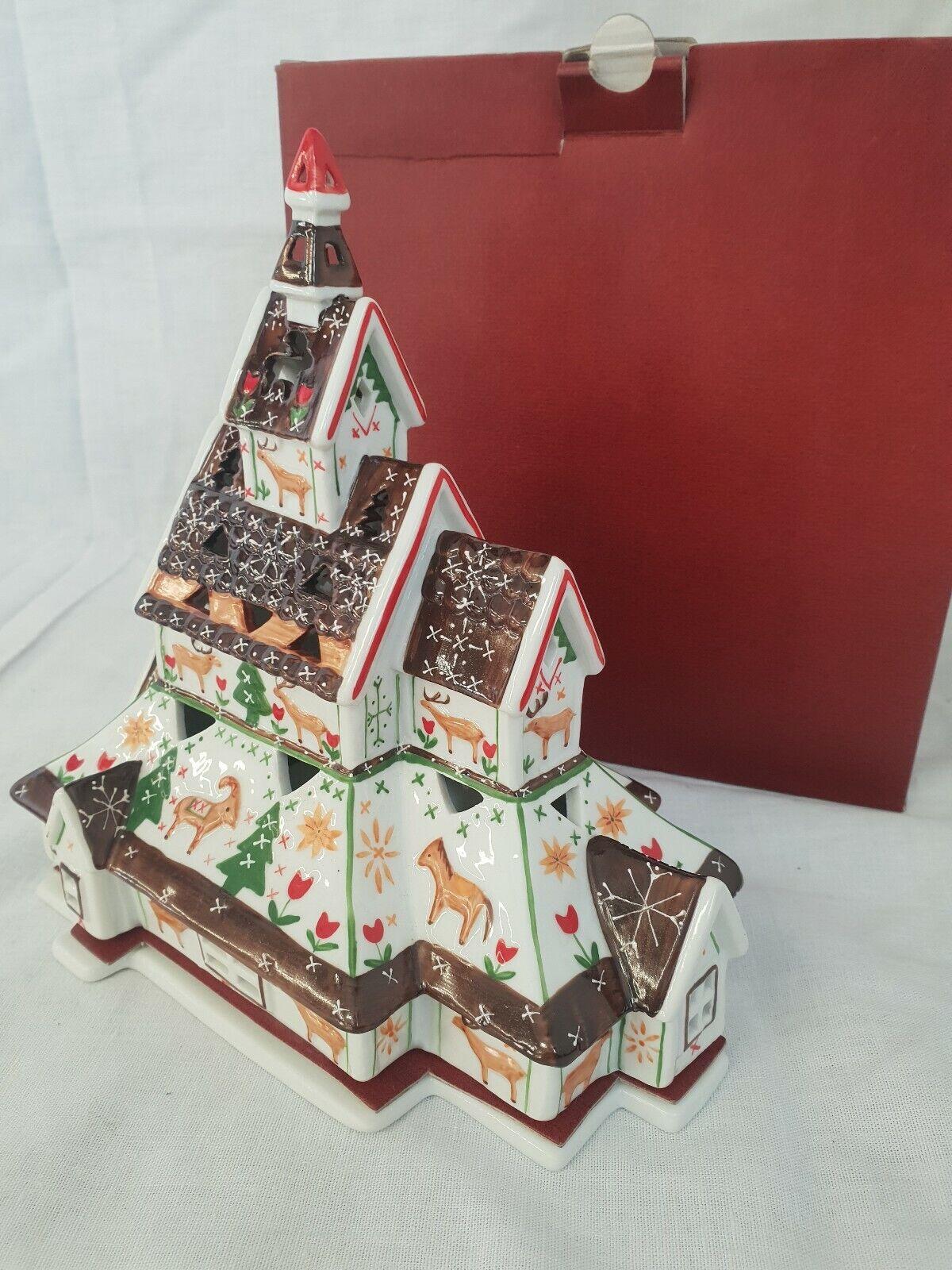 Villeroy & Boch, Kirche Waldtiere Weihnachten Scandinavia Decolights + OVP