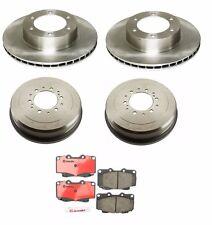 Toyota 4Runner 2 Front Disc Brake Rotors & 2 Rear Brake Drums Brembo