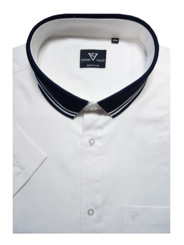 Cotton Valley Pure Cotton Oxford Shirt With Knitted Collar 14332