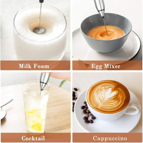 Milk Frother Electric Handheld Blender Drink Foamer Whisk Mixer for Coffee Latte