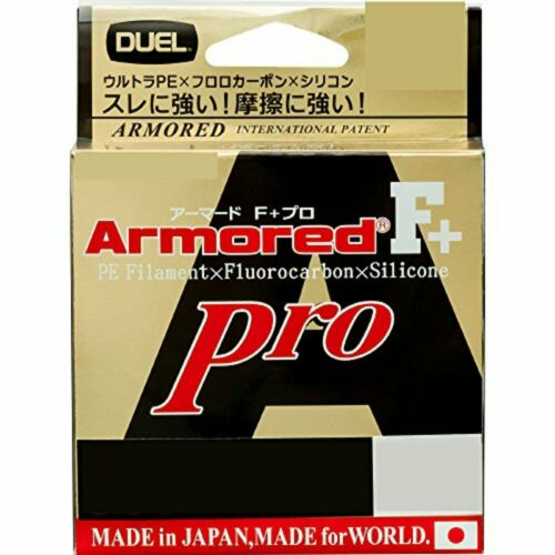 Duel PE lines Armored F Pro 150m 1.0 golden yellow H4084-GY F//S w//Tracking#
