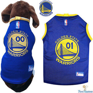 designer fashion 2b33b 5ce48 Details about NBA Pet Fan Gear Golden State Warriors Dog Jersey Shirt for  Dogs BIG SIZE XS-XL