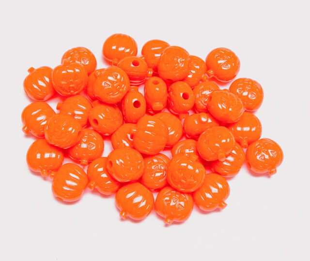 Pumpkin color 9x6mm Pony Beads 500pc for crafts hair kandi jewelry made in USA