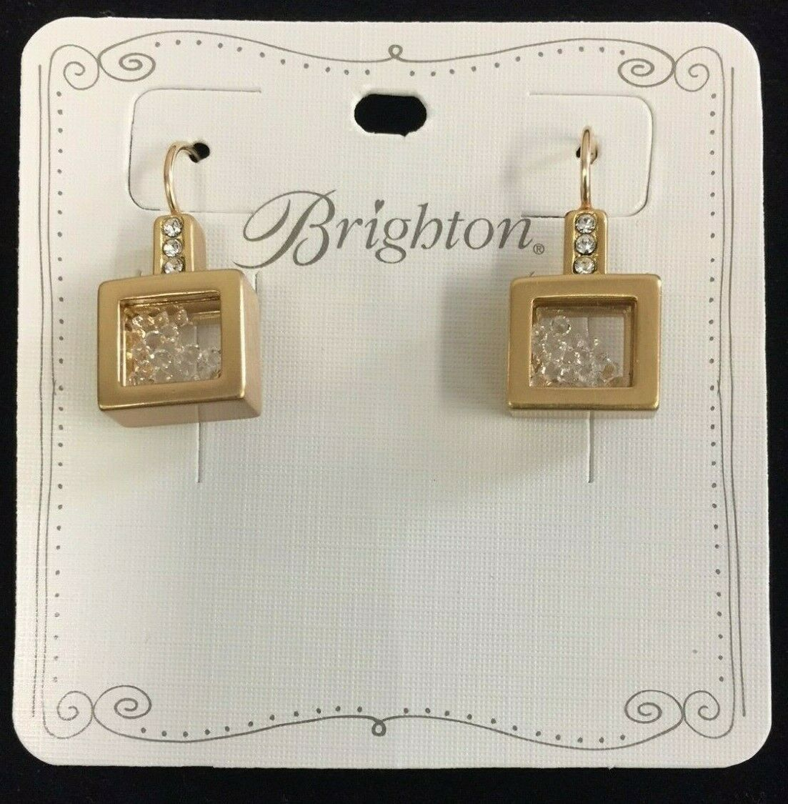 Brighton Jewelry Meridian Zenith Shaker French Wire gold Plated Earrings JA3915