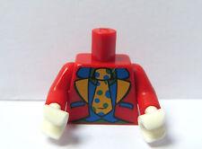 Lego 1 Body Torso For   Minifigure Figure  Red Clown Series