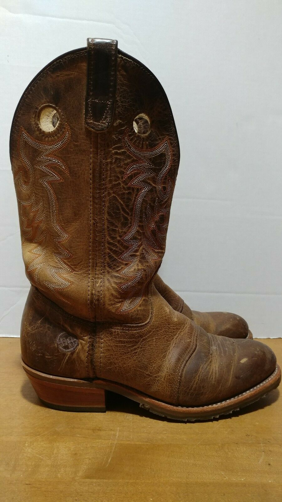 Double H Women's Ultragel Ice Buckaro Leather Cowboy Boots Size 10 W DH5159 USA