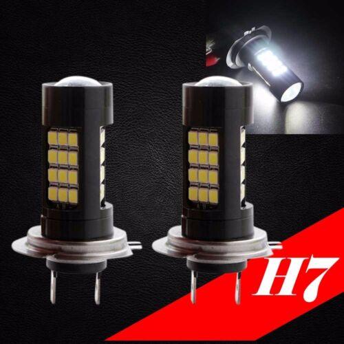H7 Samsung Chip LED 42 SMD Super White 6000K Headlight 2x Light Bulb Low Beam